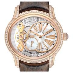 Audemars Piguet Millenary Rose Gold Mother of Pearl Diamond Ladies Watch 77247OR