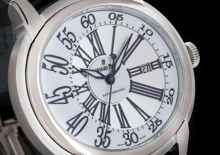 Audemars Piguet Millenary White Gold 15320BC.OO.D028CR.01 Automatic Wristwatch In Excellent Condition For Sale In London, GB