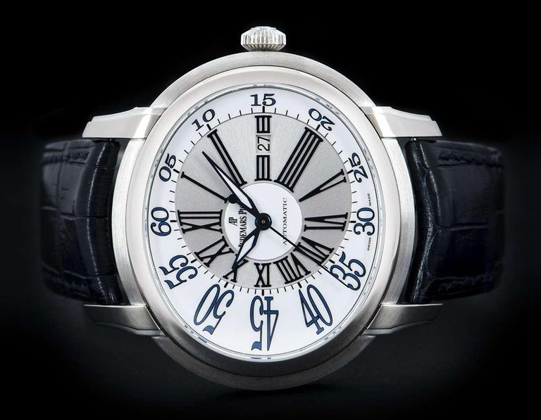 Men's Audemars Piguet Millenary White Gold 15320BC.OO.D028CR.01 Automatic Wristwatch For Sale