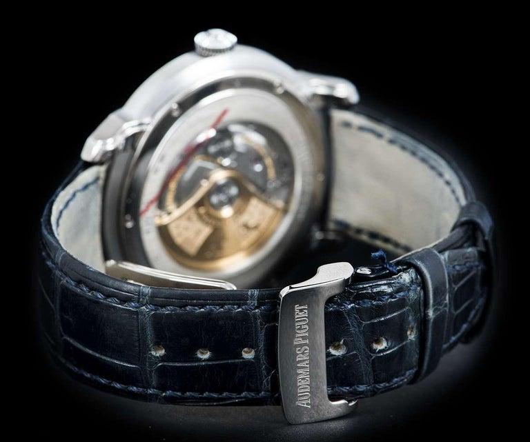 Audemars Piguet Millenary White Gold 15320BC.OO.D028CR.01 Automatic Wristwatch For Sale 2