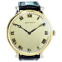 Audemars Piguet Platinum and Gold Art Deco Oversized Pocket Wristwatch, 1930s