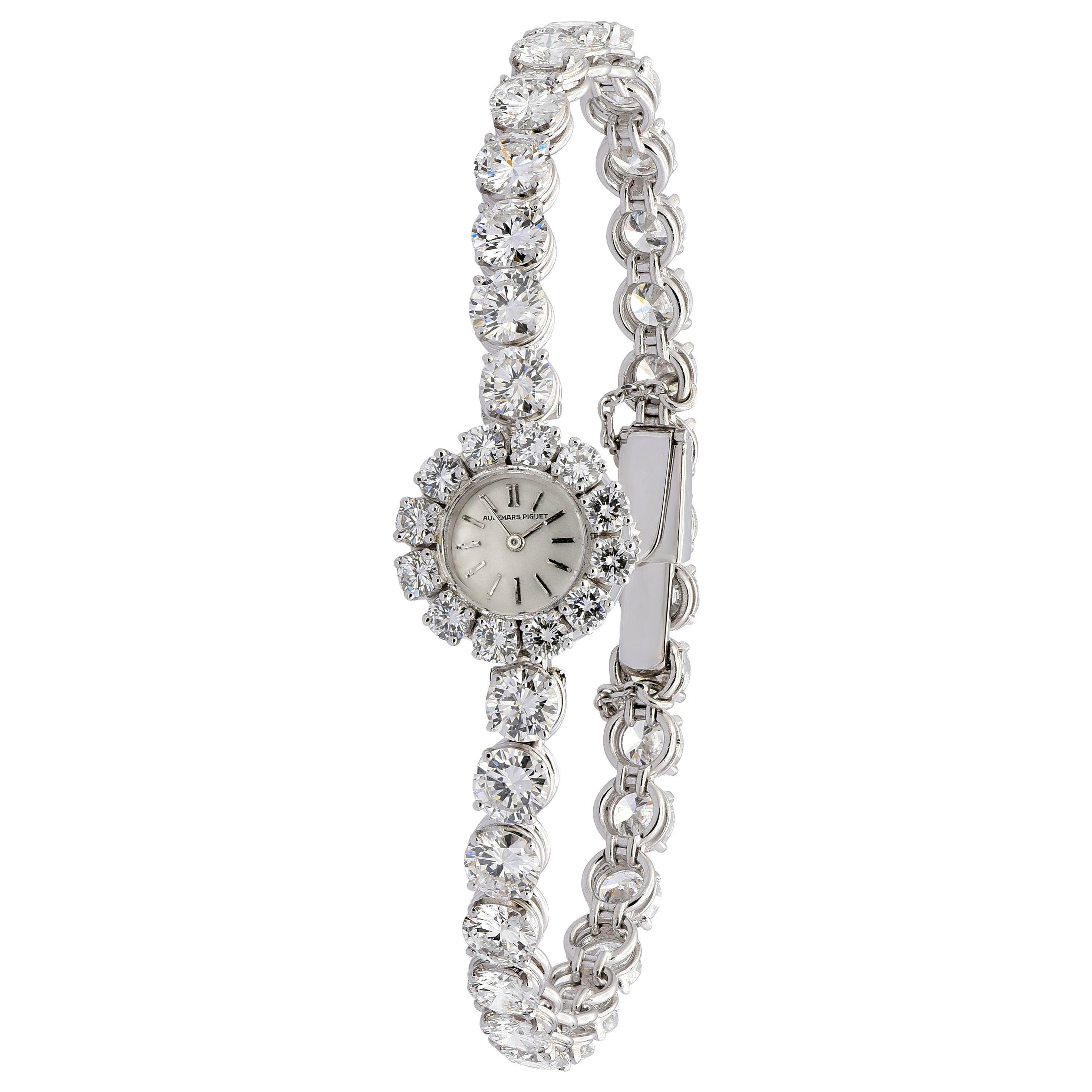 Audemars Piguet Platinum Diamond Tennis Bracelet Watch