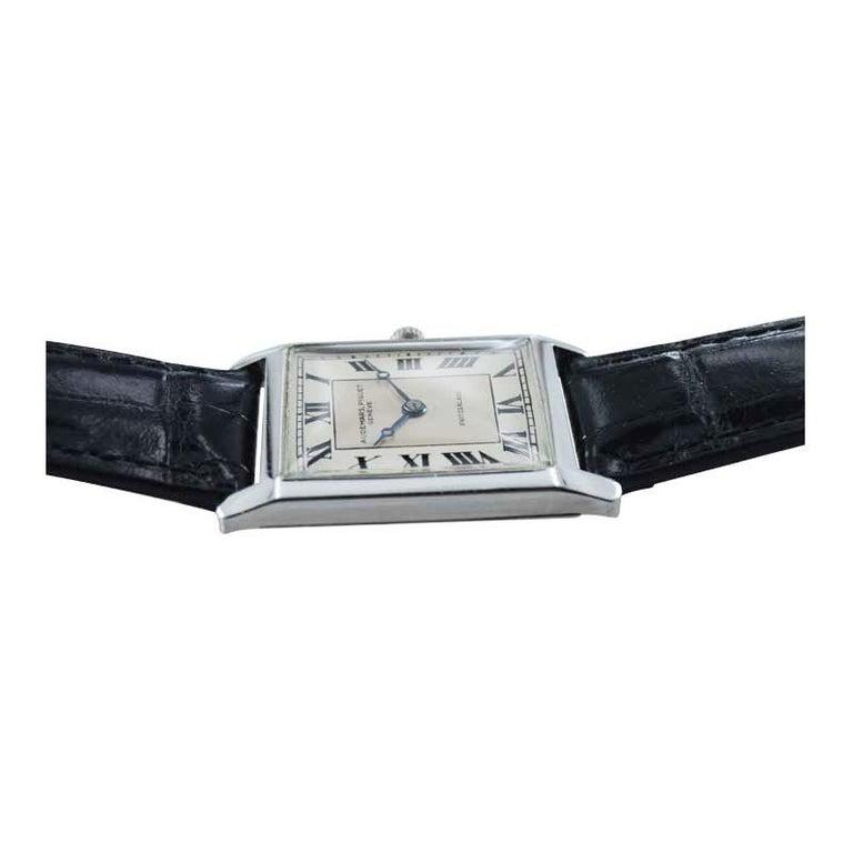 Audemars Piguet Platinum Handmade Art Deco Watch, circa 1930s For Sale 1