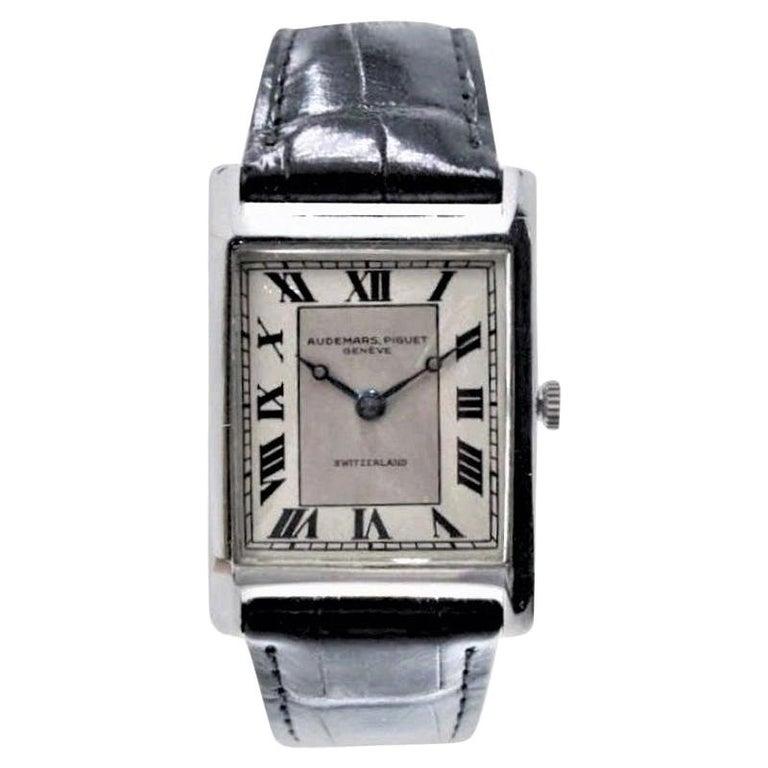 Audemars Piguet Platinum Handmade Art Deco Watch, circa 1930s For Sale