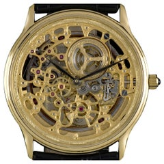 Audemars Piguet Rare Yellow Gold Skeleton Dial Automatic Watch