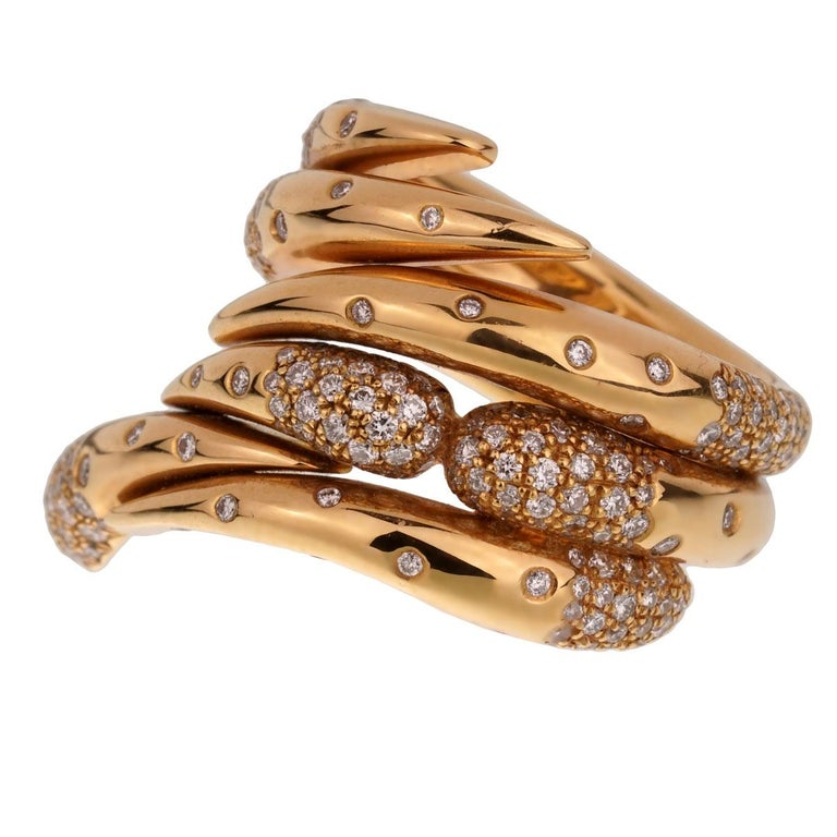 Audemars Piguet Rose Gold Diamond Cocktail Ring In Excellent Condition For Sale In Feasterville, PA
