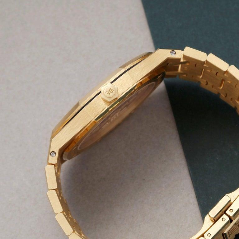 Men's Audemars Piguet Royal Oak 0 15202BA Men Yellow Gold Boutique Only Edition Watch For Sale