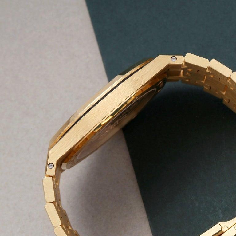 Audemars Piguet Royal Oak 0 15202BA Men Yellow Gold Boutique Only Edition Watch For Sale 1