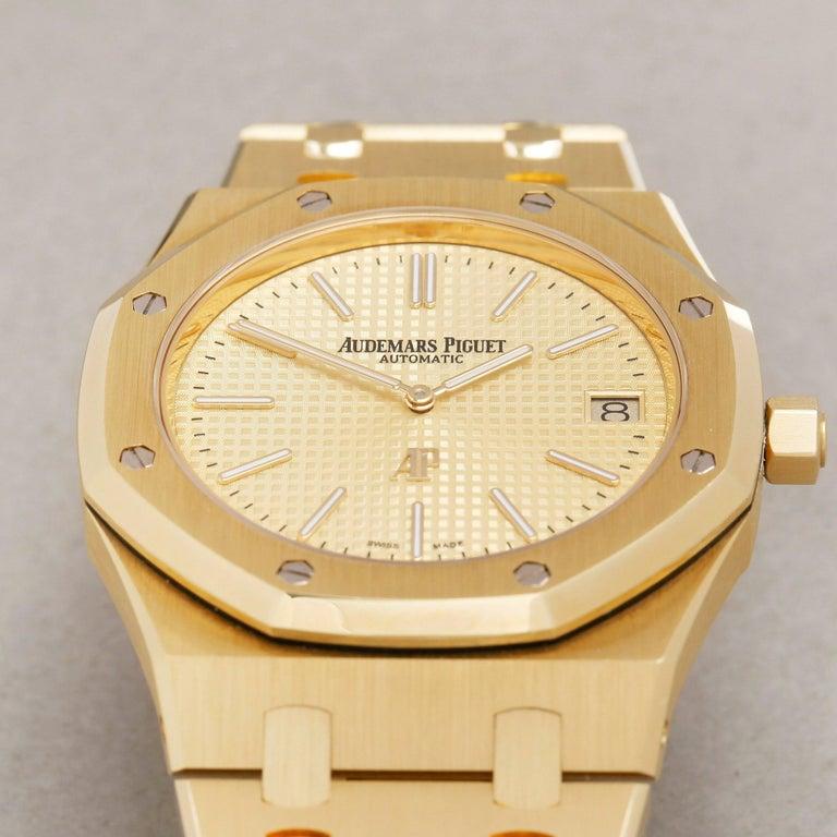 Audemars Piguet Royal Oak 0 15202BA Men Yellow Gold Boutique Only Edition Watch For Sale 2