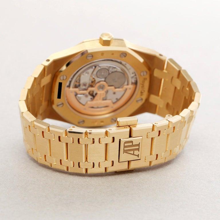 Audemars Piguet Royal Oak 0 15202BA Men Yellow Gold Boutique Only Edition Watch For Sale 3