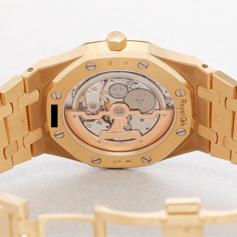Audemars Piguet Royal Oak 0 15202BA Men Yellow Gold Boutique Only Edition Watch For Sale 4