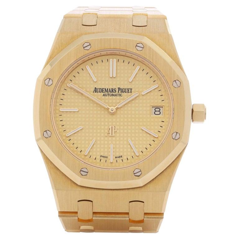 Audemars Piguet Royal Oak 0 15202BA Men Yellow Gold Boutique Only Edition Watch For Sale