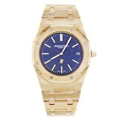 Audemars Piguet Royal Oak 15202OR.OO.1240OR.0 18 Karat Rose Gold Blue Dial Watch