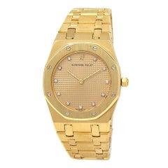 Audemars Piguet Royal Oak 18 Karat Gold Quartz Ladies Watch 56143BAOO.0477BA01