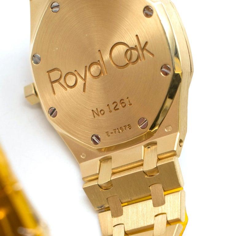Audemars Piguet Royal Oak 18 Karat Gold Watch 4