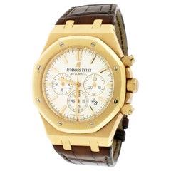 Audemars Piguet Royal Oak 18 Karat Rose Gold Chronograph Box Papers Watch
