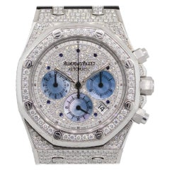 Audemars Piguet Royal Oak 18 Karat White Gold With Factory Diamonds Watch