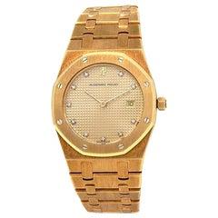 Audemars Piguet Royal Oak 18 Karat Yellow Gold Swiss Quartz Ladies Watch