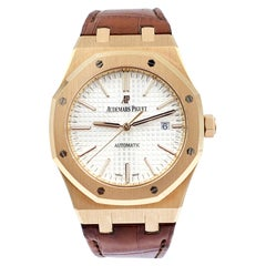 Audemars Piguet Royal Oak 18 Karat Rose Gold Automatic 15400OR.OO.D088CR.01