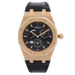 Audemars Piguet Royal Oak 18k Rose Gold Dual Time Men Watch 26120OR.OO.D002CR.01