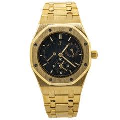 Audemars Piguet Royal Oak 25730BA Dual Time 18K Gold Black Dial Mens Watch