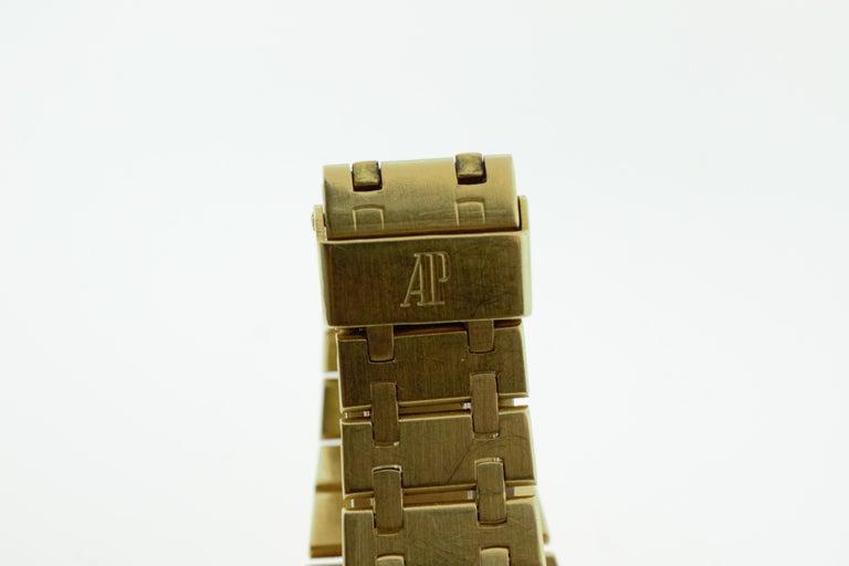 Modern Audemars Piguet Royal Oak Yellow Gold Watch For Sale