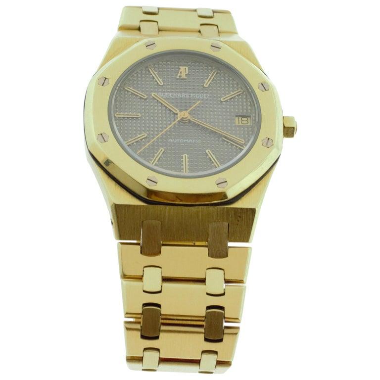 Audemars Piguet Royal Oak Yellow Gold Watch For Sale