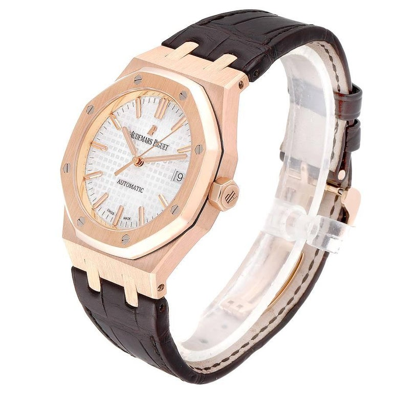 Audemars Piguet Royal Oak Midsize Rose Gold Men's Watch 15450OR For Sale 1