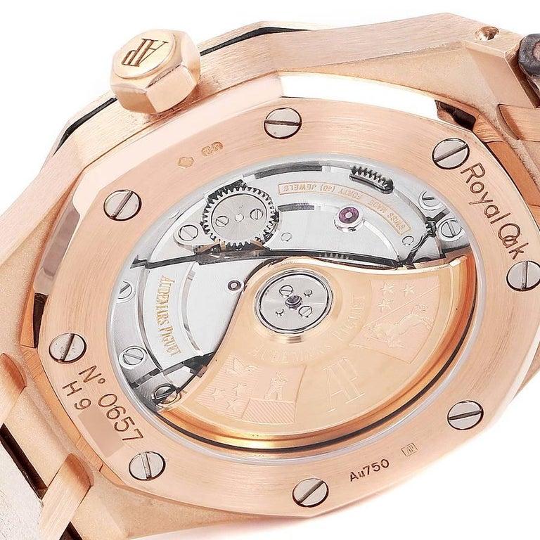 Audemars Piguet Royal Oak Midsize Rose Gold Men's Watch 15450OR For Sale 3