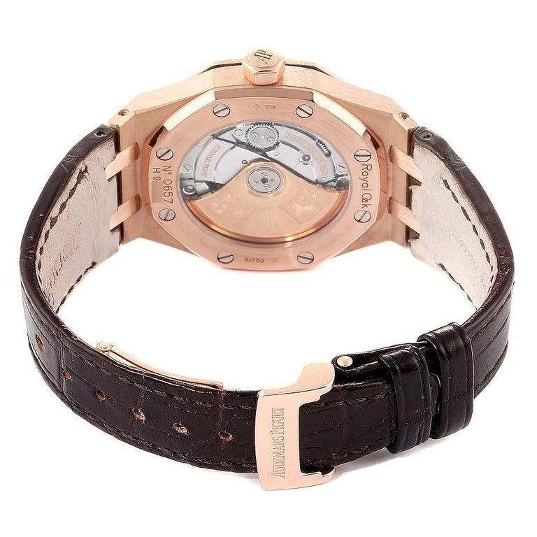 Audemars Piguet Royal Oak Midsize Rose Gold Men's Watch 15450OR For Sale 4