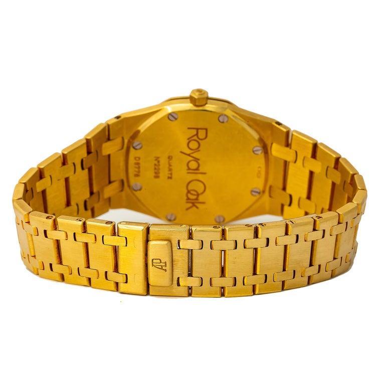 Audemars Piguet Royal Oak 56175 Quartz 18K Yellow Gold Unpolished Unisex 33mm