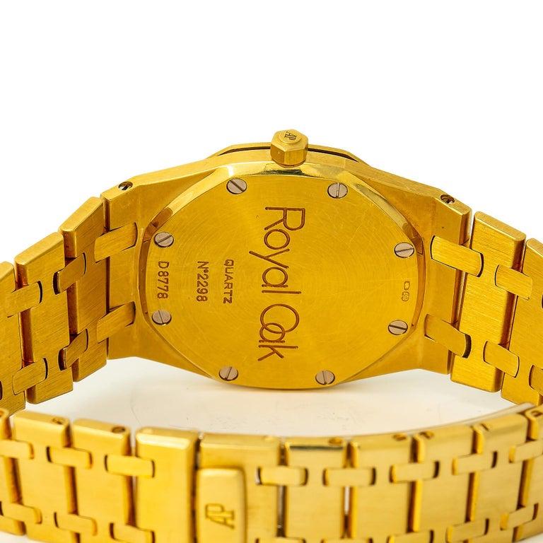 Audemars Piguet Royal Oak 56175 Quartz 18 Karat Yellow Gold Unpolished Unisex In Excellent Condition For Sale In Miami, FL
