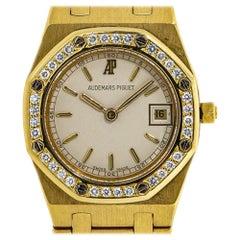 Audemars Piguet Royal Oak 66270BA.OO.1100BA.04 Diamond Bezel 18K YG Watch