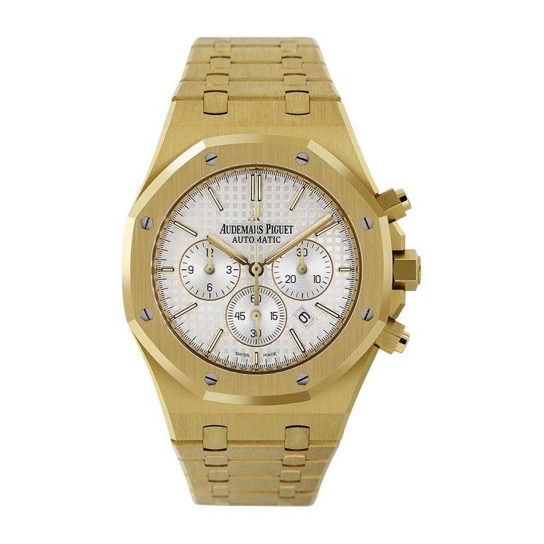 Audemars Piguet Royal Oak Chronograph Yellow Gold Watch For Sale