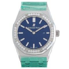 Audemars Piguet Royal Oak Diamond Bezel Blue Dial Ladies Watch