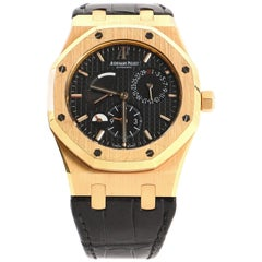 Audemars Piguet Royal Oak Dual Time Automatic Watch Rose Gold and Alligator 39