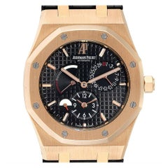 Audemars Piguet Royal Oak Dual Time Power Reserve Rose Gold Watch 26120OR