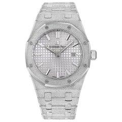 Audemars Piguet Royal Oak Frosted 18 Karat White Gold Watch 67653BC.GG.1263BC.01