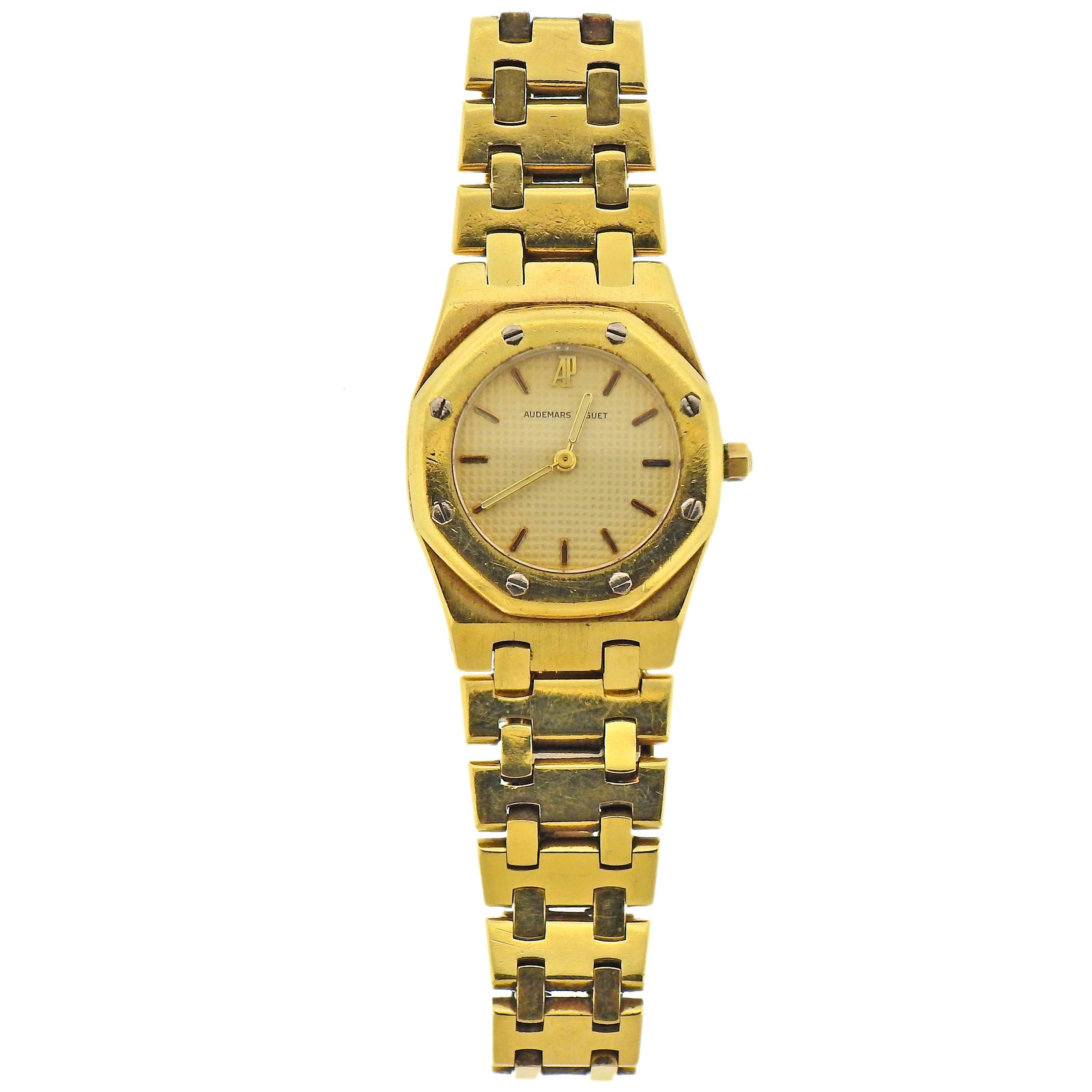 Audemars Piguet Royal Oak Gold Ladies Watch