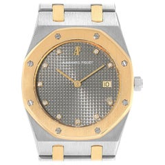Audemars Piguet Royal Oak Grey Dial Steel Yellow Gold Men's Watch