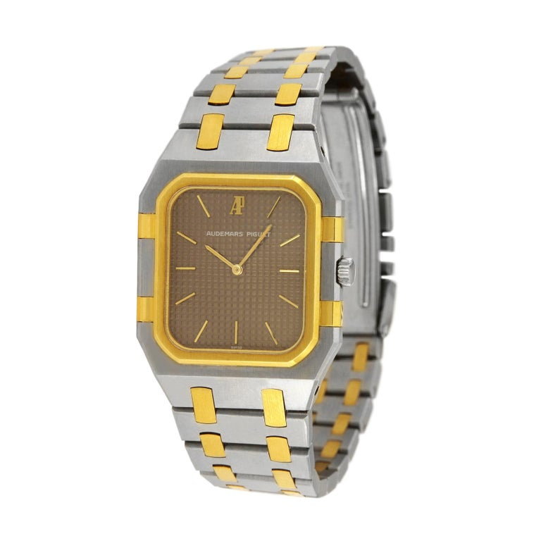 Women's or Men's Audemars Piguet Royal Oak Jumbo Two-Tone Watch 6500SA For Sale