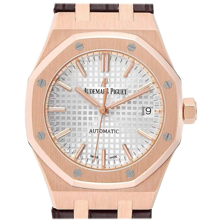 Audemars Piguet Royal Oak Midsize Rose Gold Men's Watch 15450OR For Sale