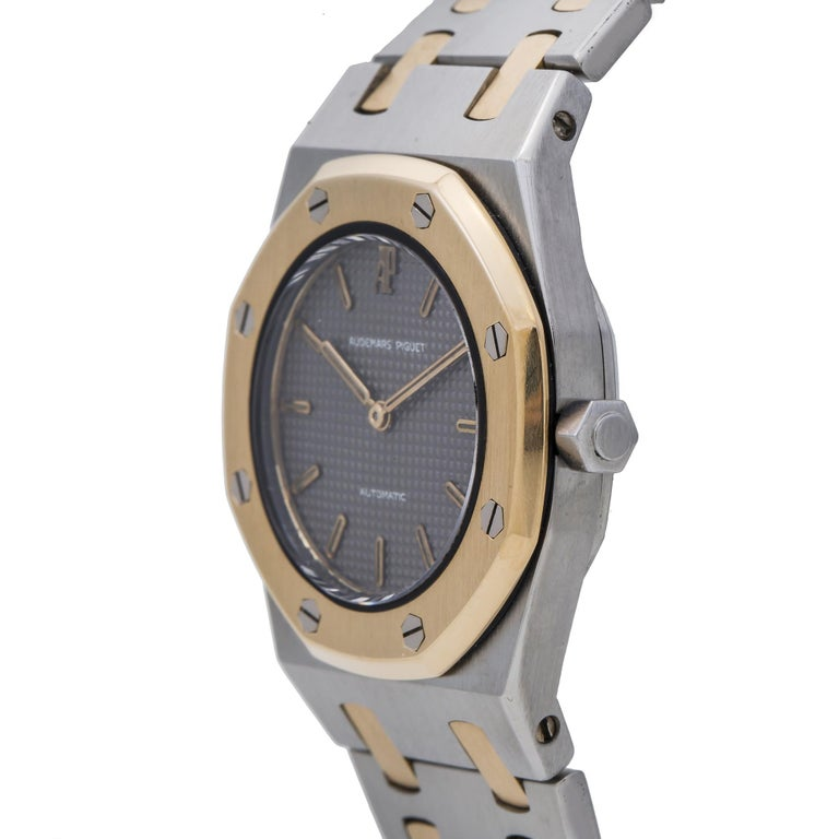Audemars Piguet Royal Oak No-ref#, Grey Dial, Certified In Excellent Condition For Sale In Miami, FL