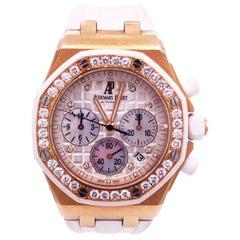 Audemars Piguet Royal Oak Offshore 18 Karat Rose Chrono Diamonds 26048OK.ZZ.D01