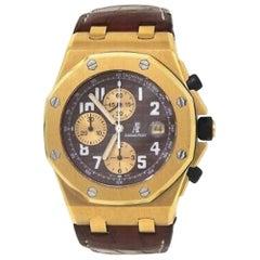 Audemars Piguet Royal Oak Offshore 25770ST.OO.D050BU02, Brown Dial, Certified &
