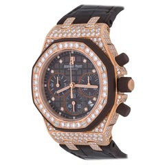 Audemars Piguet Royal Oak Offshore Chronograph in 18 Karat Gold and Diamonds