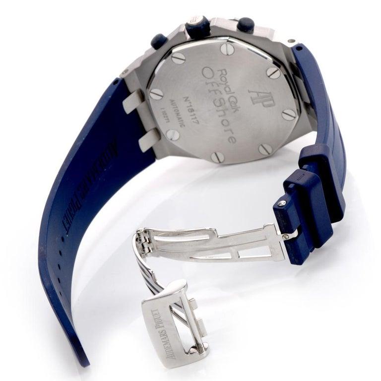 Modern Audemars Piguet Royal Oak Offshore Chronograph Stainless Watch 18117  For Sale