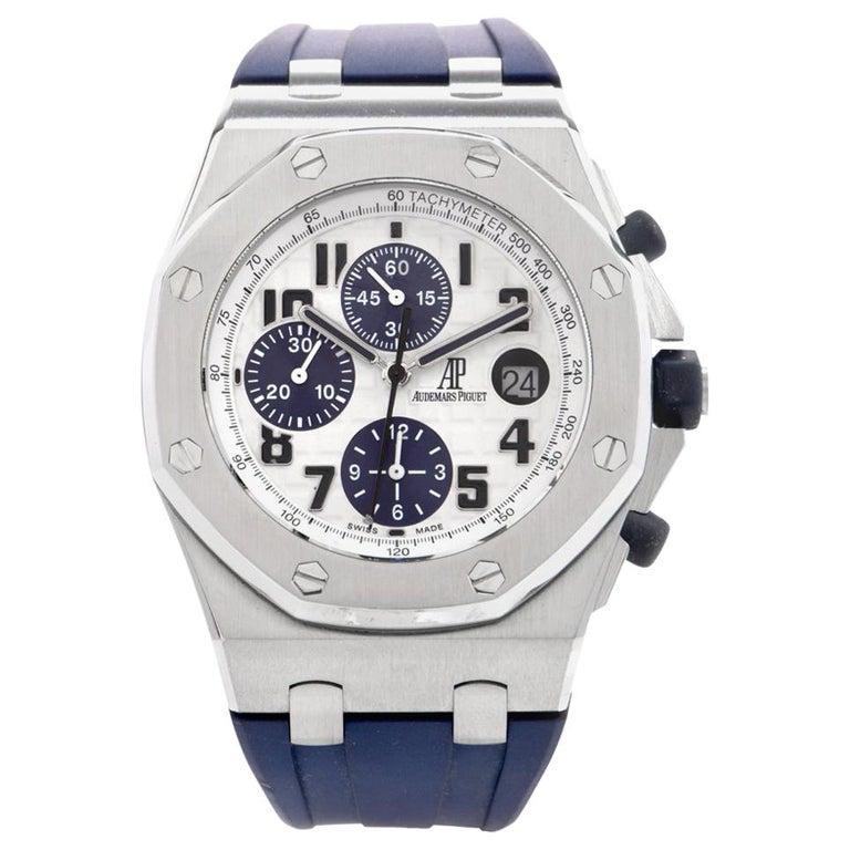Audemars Piguet Royal Oak Offshore Chronograph Stainless Watch 18117  For Sale