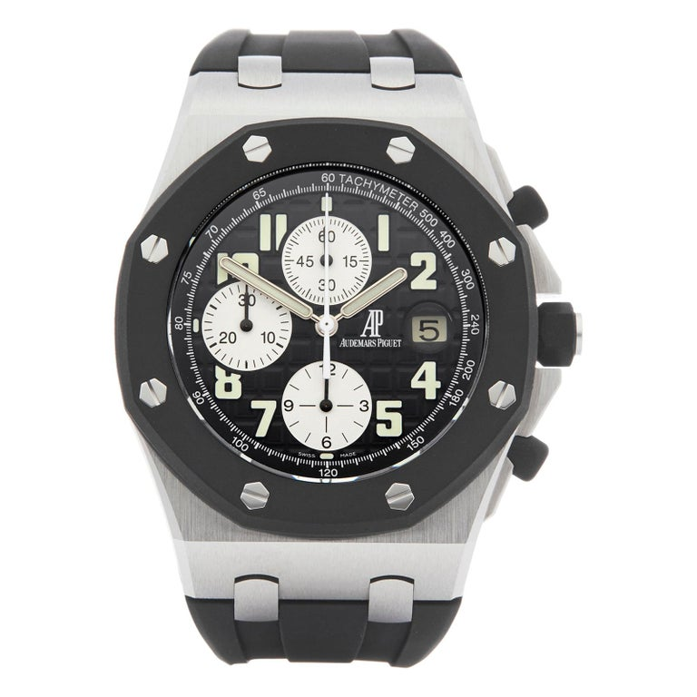 Audemars Piguet Royal Oak Offshore Chronograph Stainless Steel & Rubber 25940SK For Sale