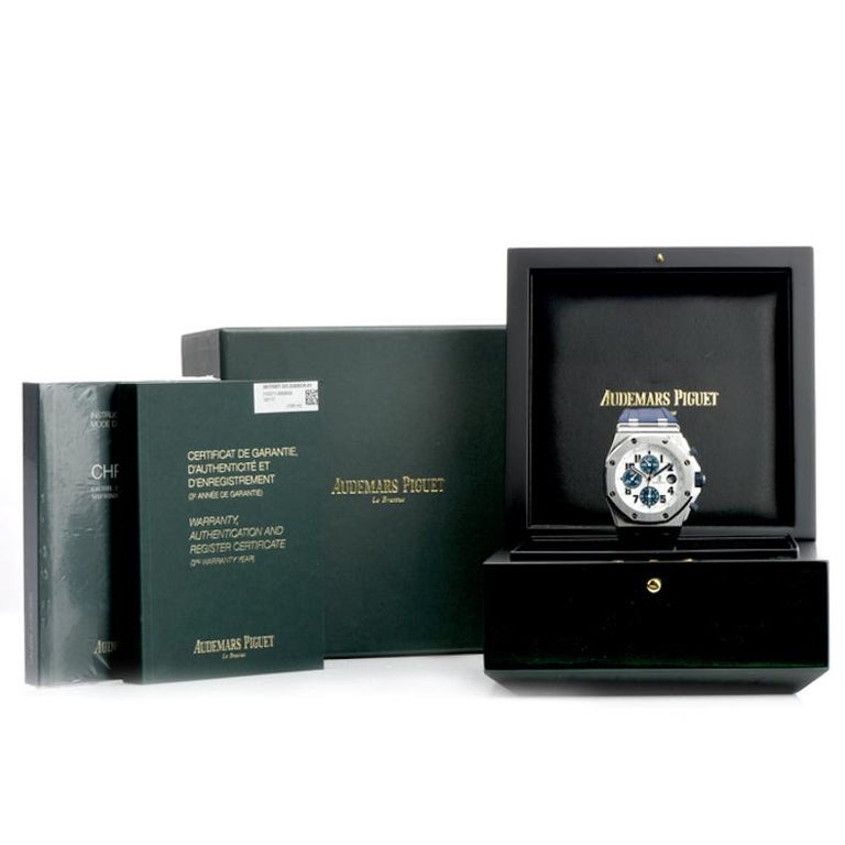 Men's Audemars Piguet Royal Oak Offshore Chronograph Stainless Watch 18117  For Sale